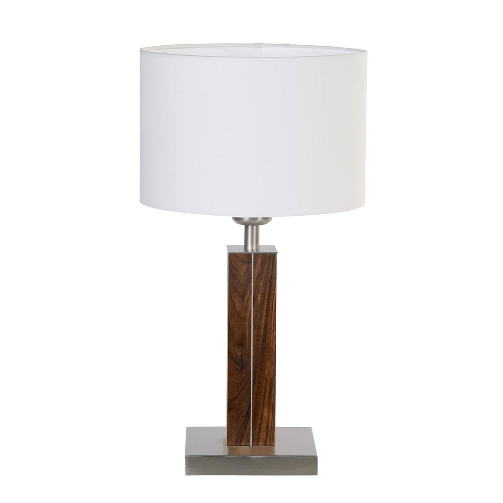 HerzBlut Dana tafellamp met houten voet noten