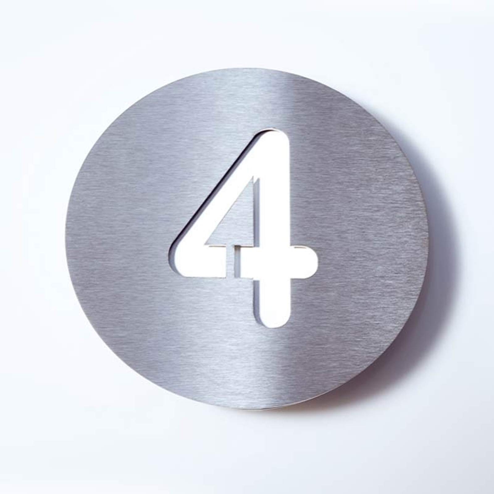 Stainless steel house number Round_1057082_1