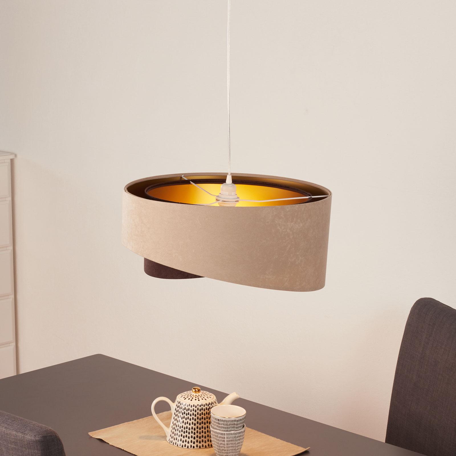 Lámpara colgante Arianna, look capas, 2 colores