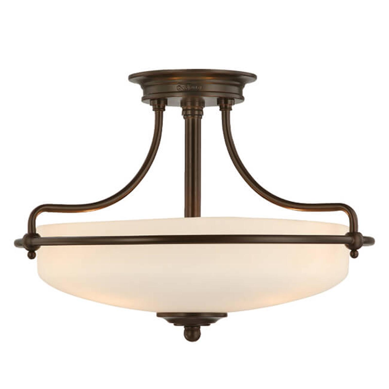 Lampa sufitowa Griffin, Ø 43 cm, brąz