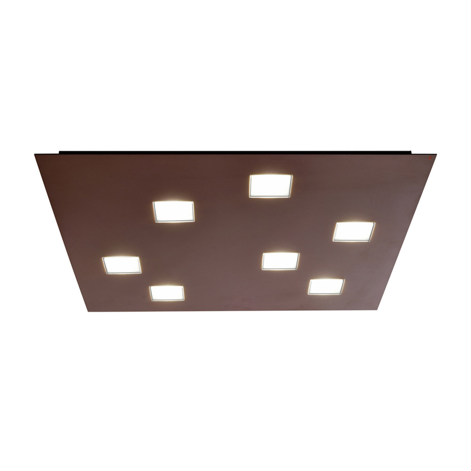 Lampa sufitowa LED Quarter, 7 LED, brązowa