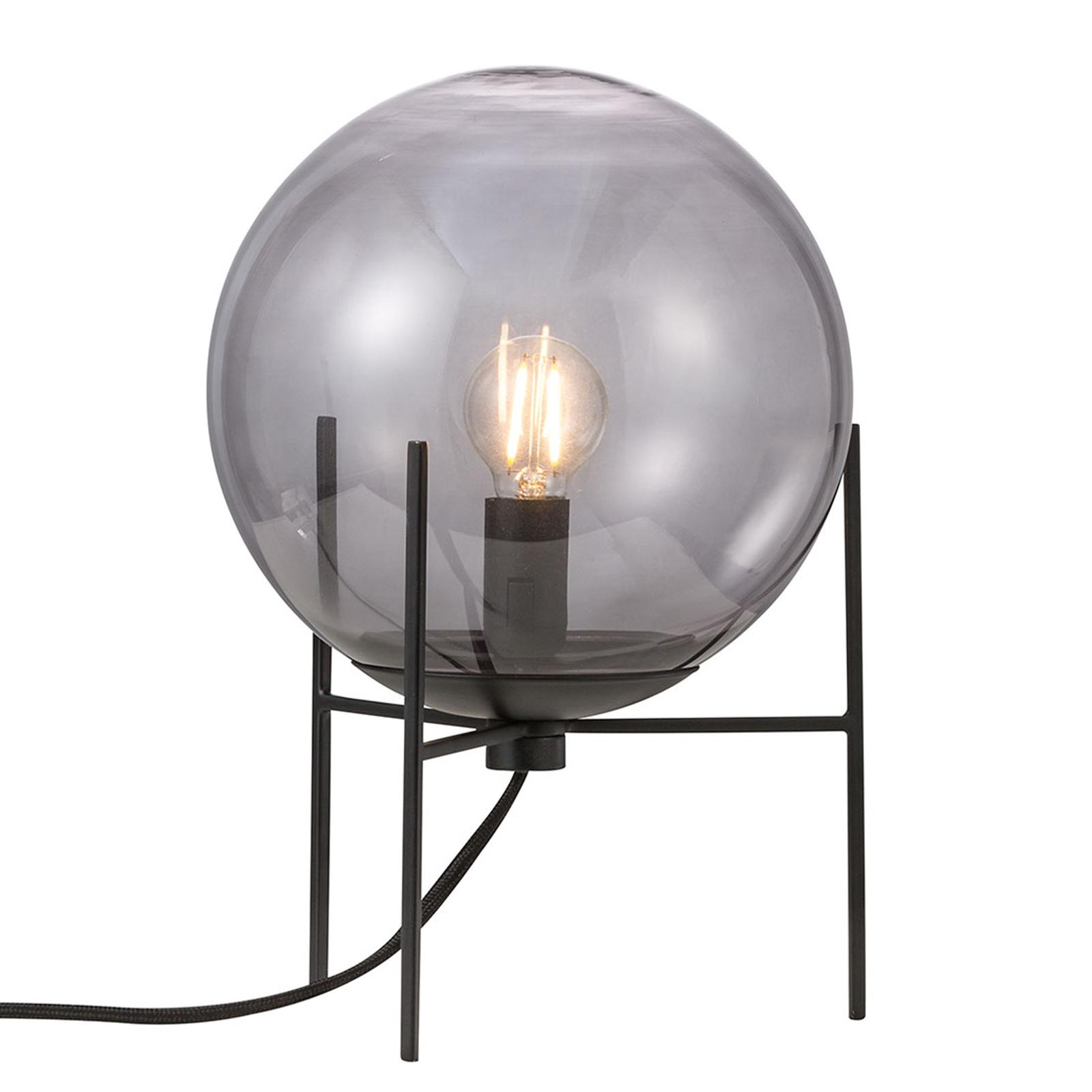 Tafellamp Alton met rookgrijze glazen kap