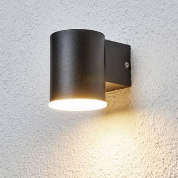 Sencilla lámpara pared exterior LED Morena negra