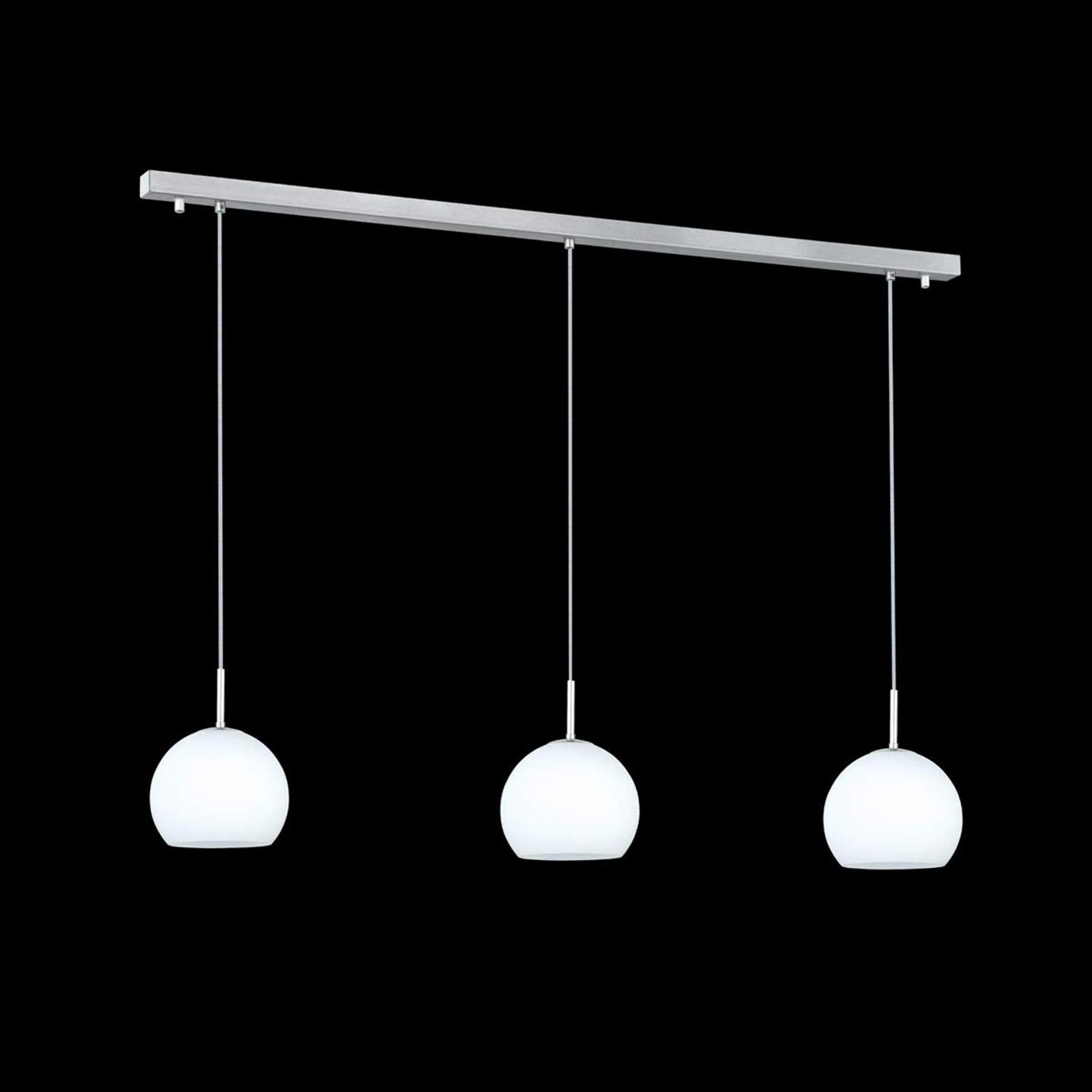 Hanglamp Bolero met 3 lampjes, balken
