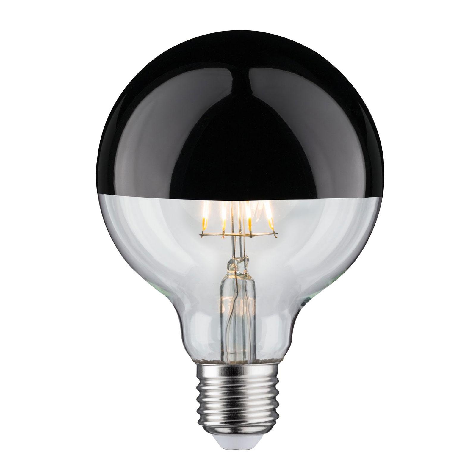 LED-Lampe E27 827 6,5W Kopfspiegel schwarzchrom