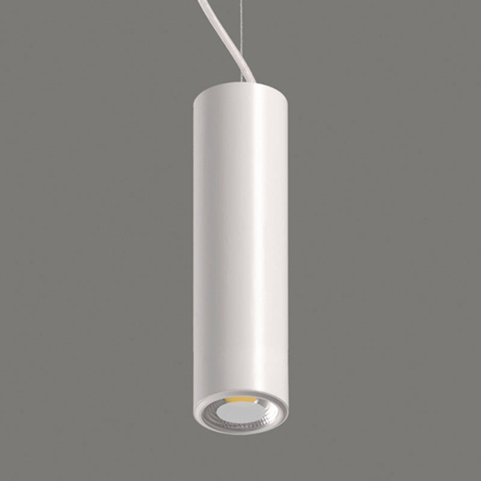 Studio - suspension LED blanche cylindrique