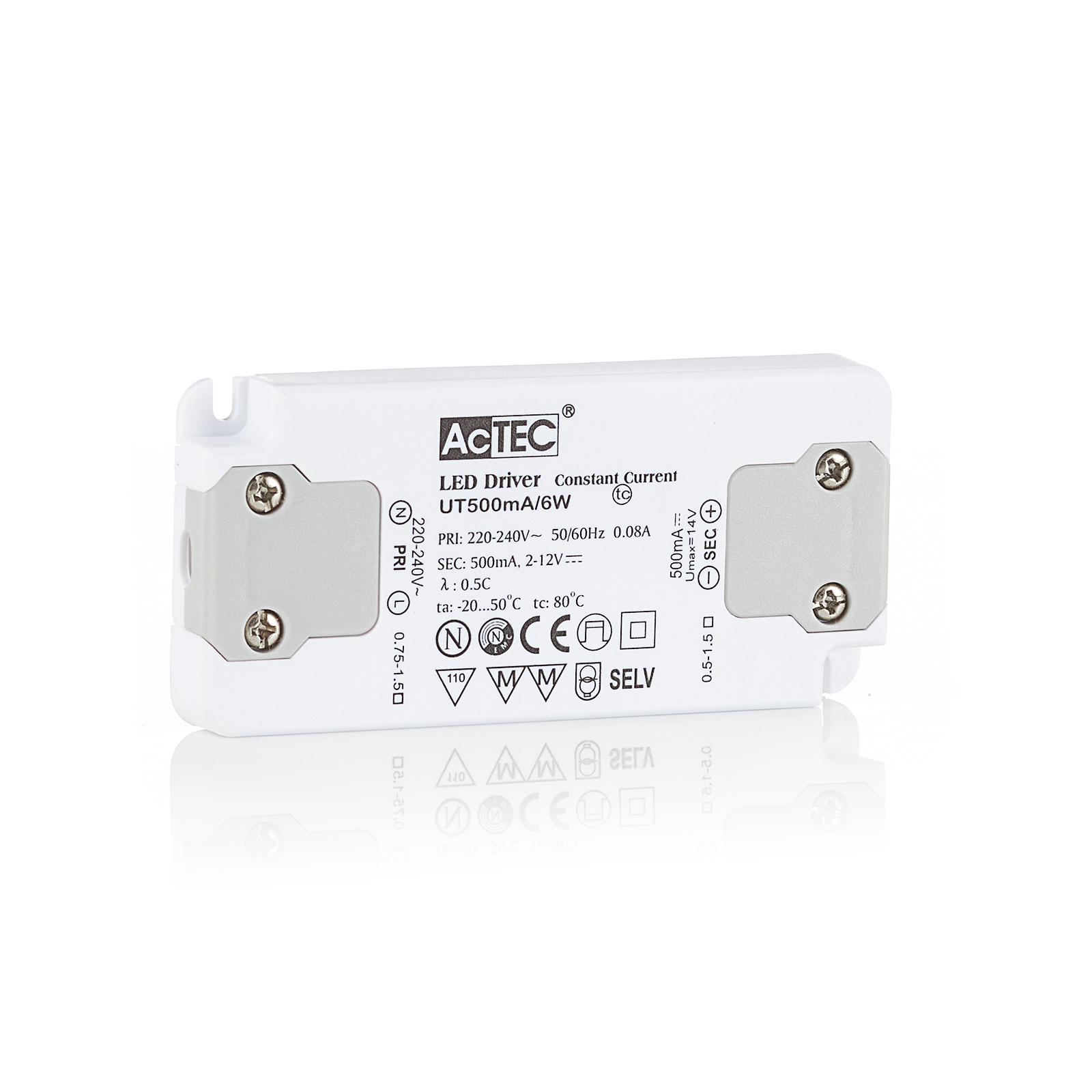 AcTEC Slim LED-Treiber CC 500mA, 6W