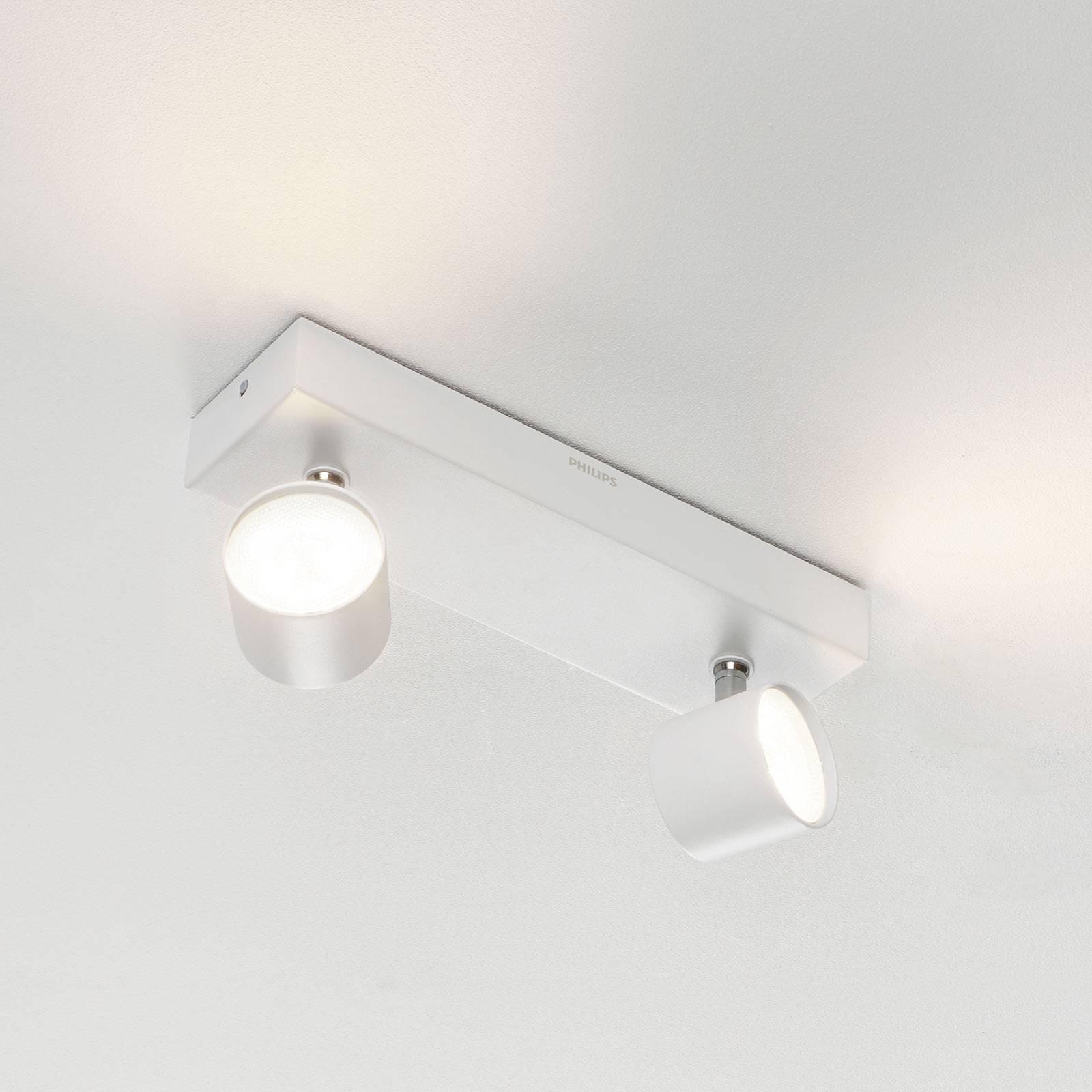 Star 2-lamp LED spot, warmglow, wit