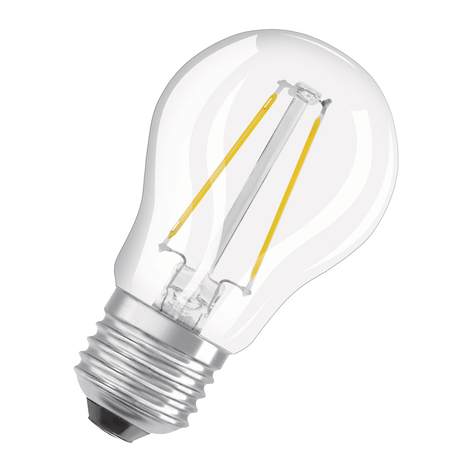 OSRAM ampoule LED E27 2,8W blanc chaud transparent