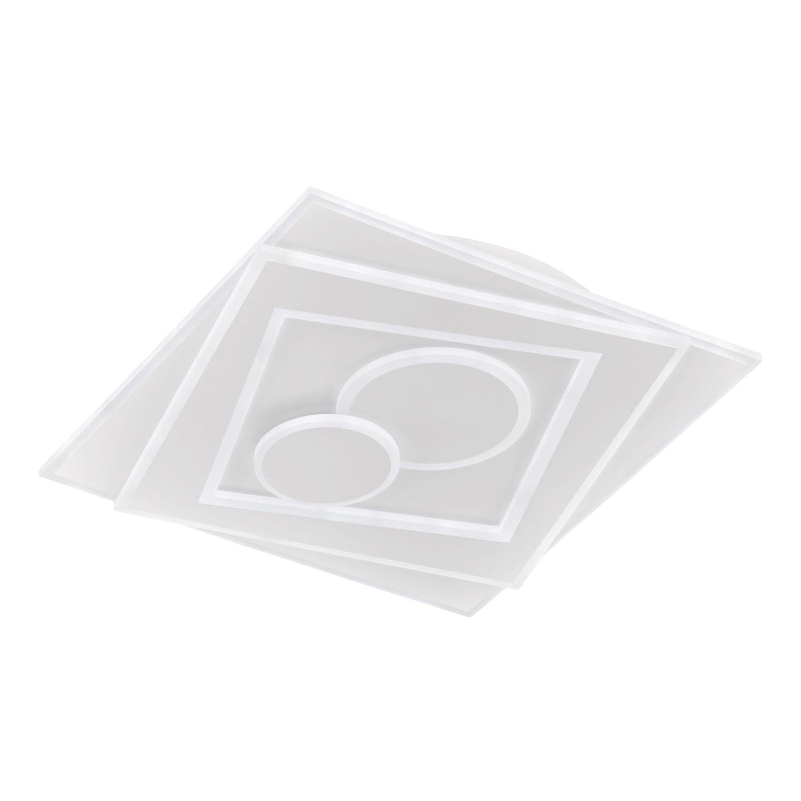 LED-Deckenleuchte Ratio, dimmbar, zwei Kreise