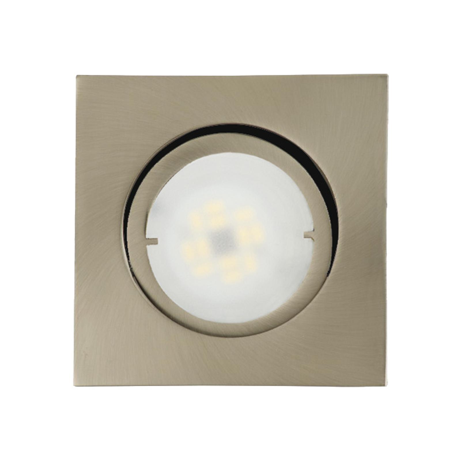 Joanie - LED-inbyggnadslampa, borstat järn