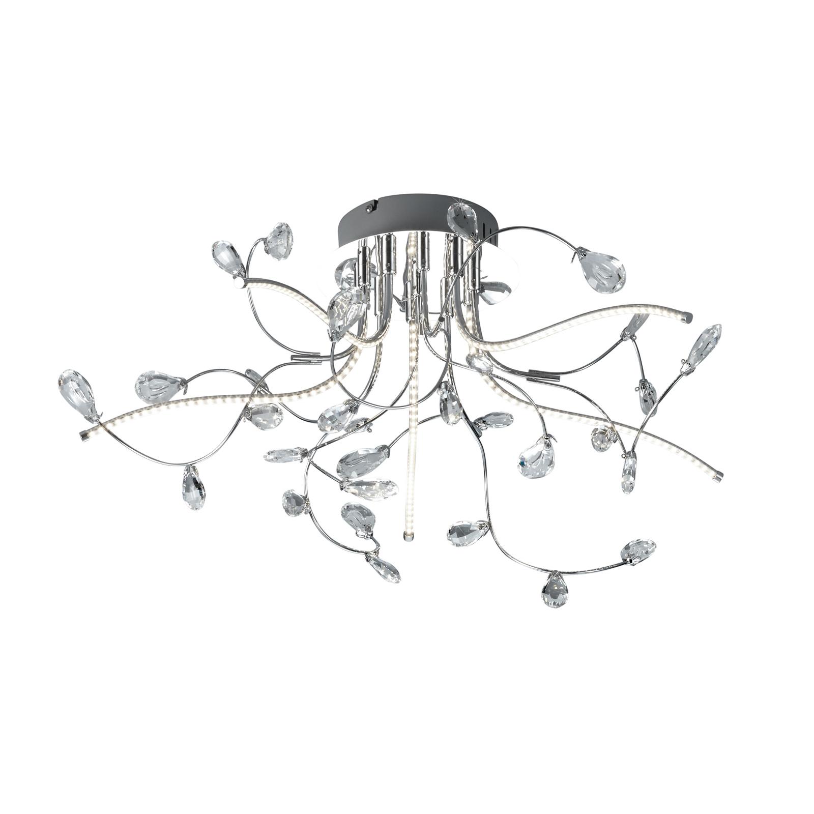 B-Leuchten Crystal Deckenleuchte, chrom, 54 cm