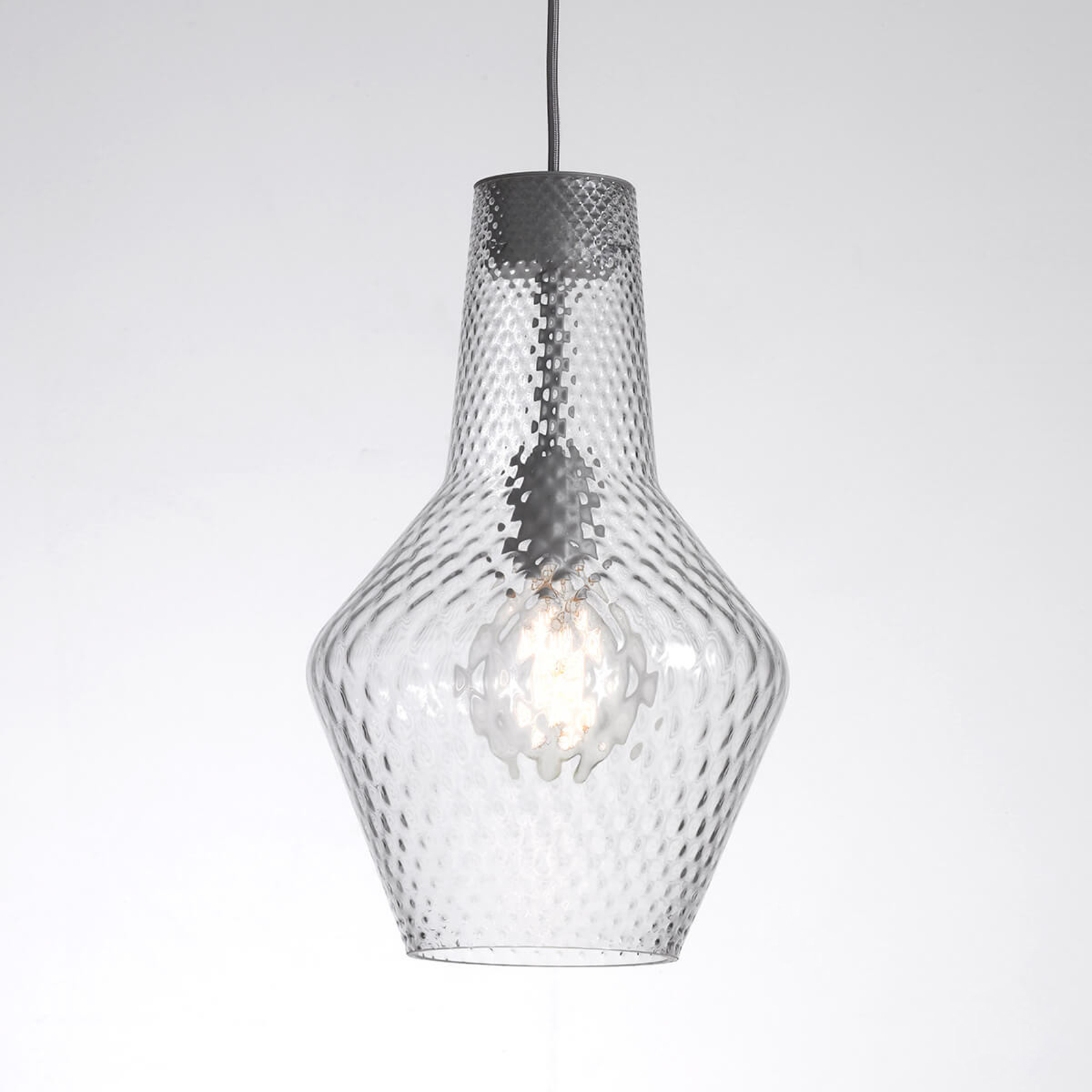 Hängeleuchte Romeo 130 cm, Glas transparent