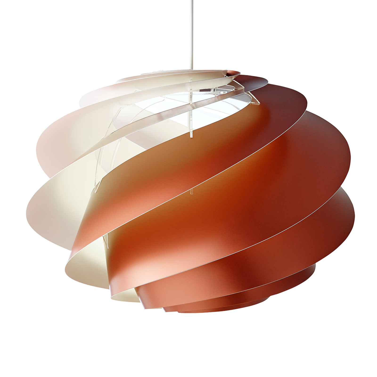 LE KLINT Swirl 1 - kobberfarvet hængelampe