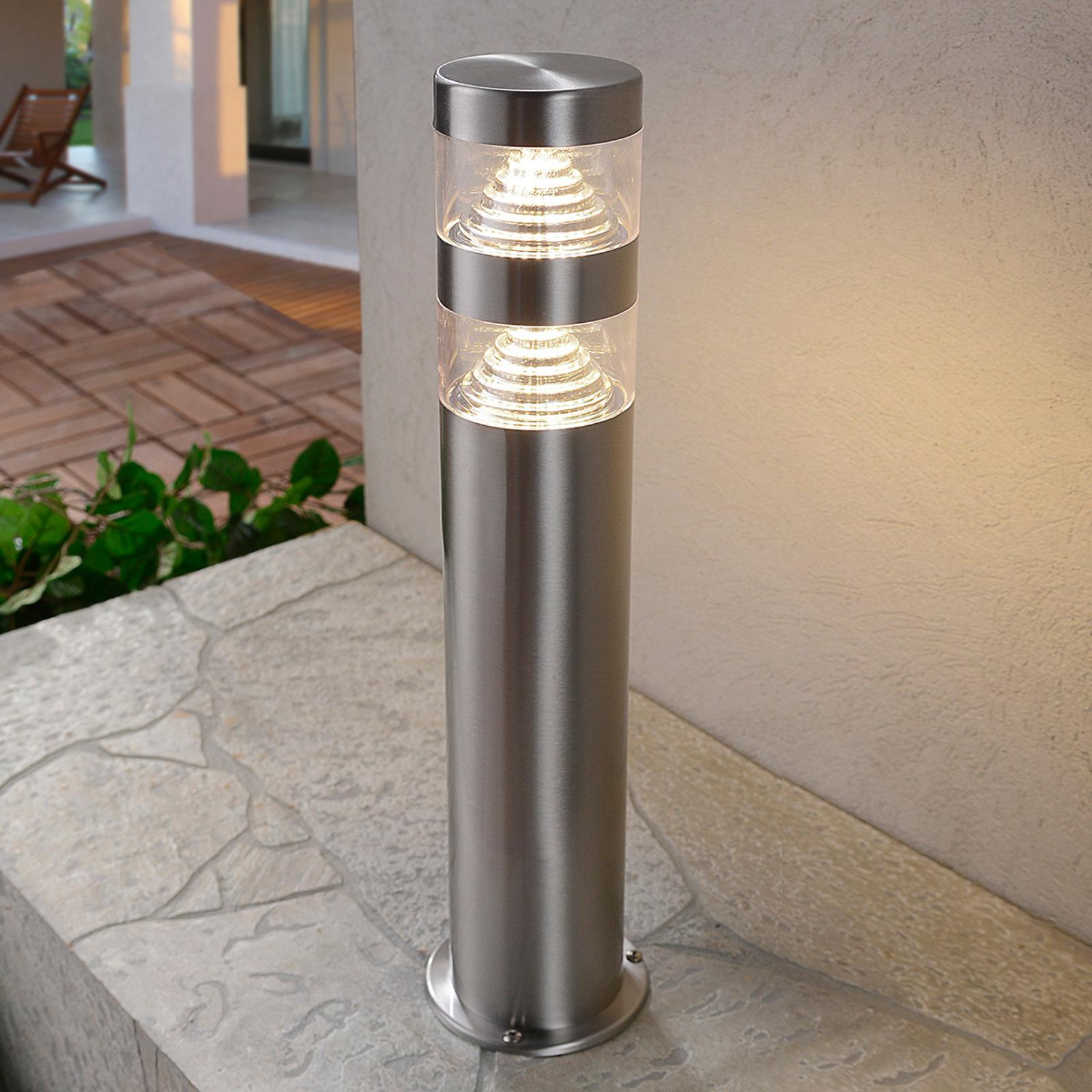 Lanea - LED-sokkellampe i rustfritt stål, 40cm