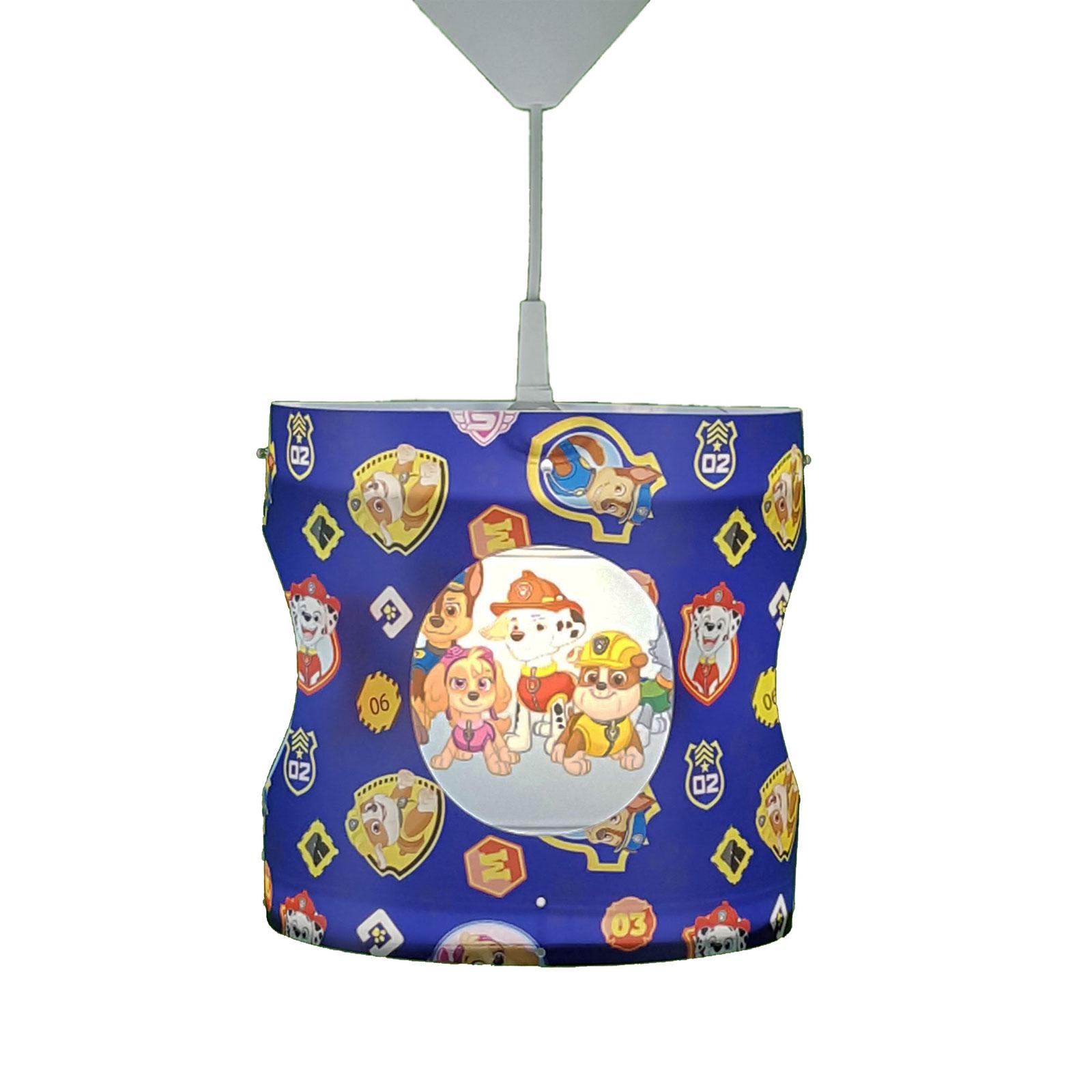 Obrotowa lampa wisząca Paw Patrol