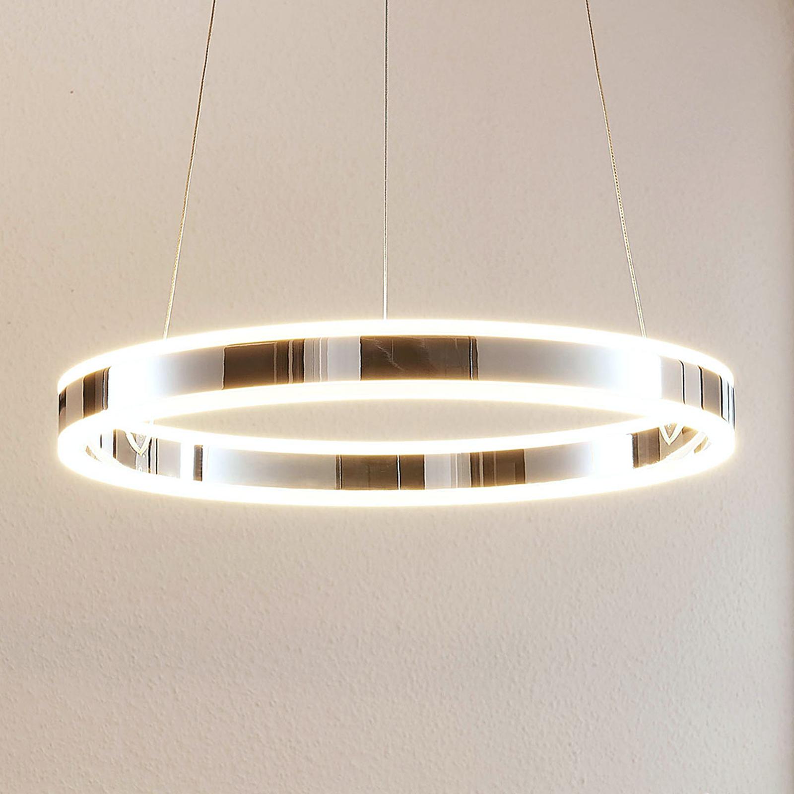 LED-Pendelleuchte Lyani in Chrom, dimmbar, 50 cm