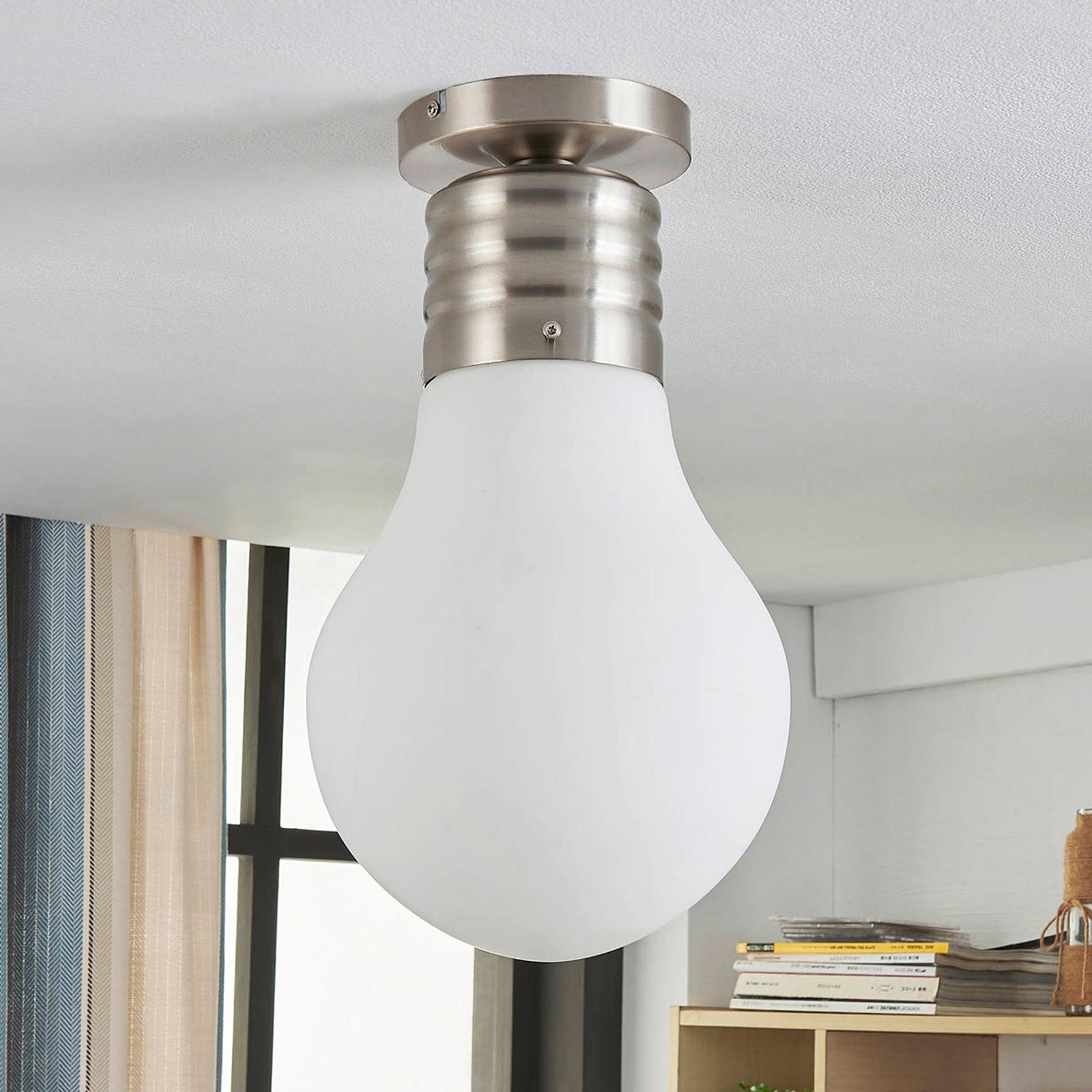 Plafonnier LED Bado en forme d'ampoule, easydim
