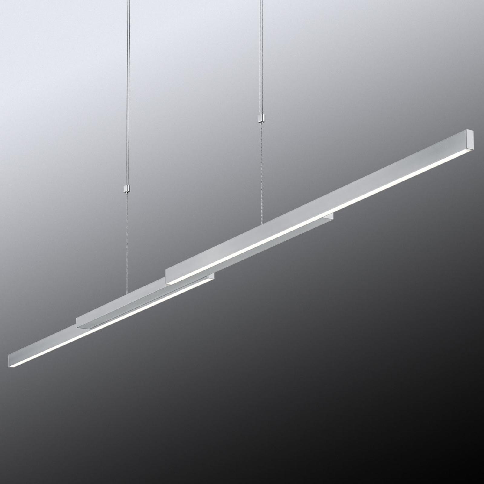 Suspension LED Arès étirable, commande gestuelle