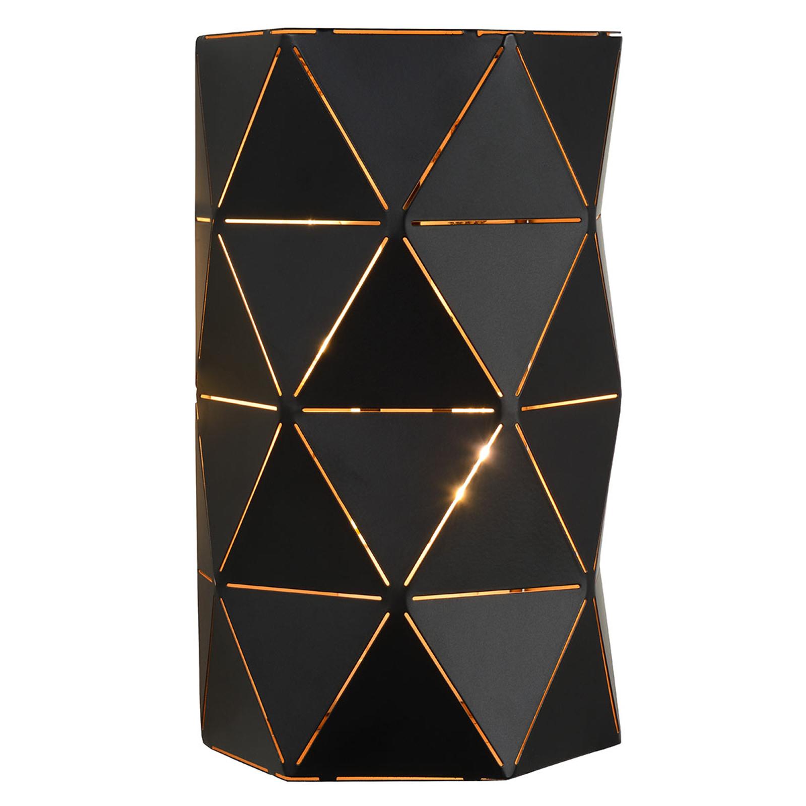 Zwarte metalen wandlamp Otona
