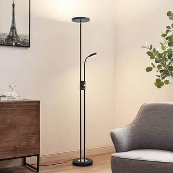 Lindby Seppa LED-Stehleuchte, rund, schwarz