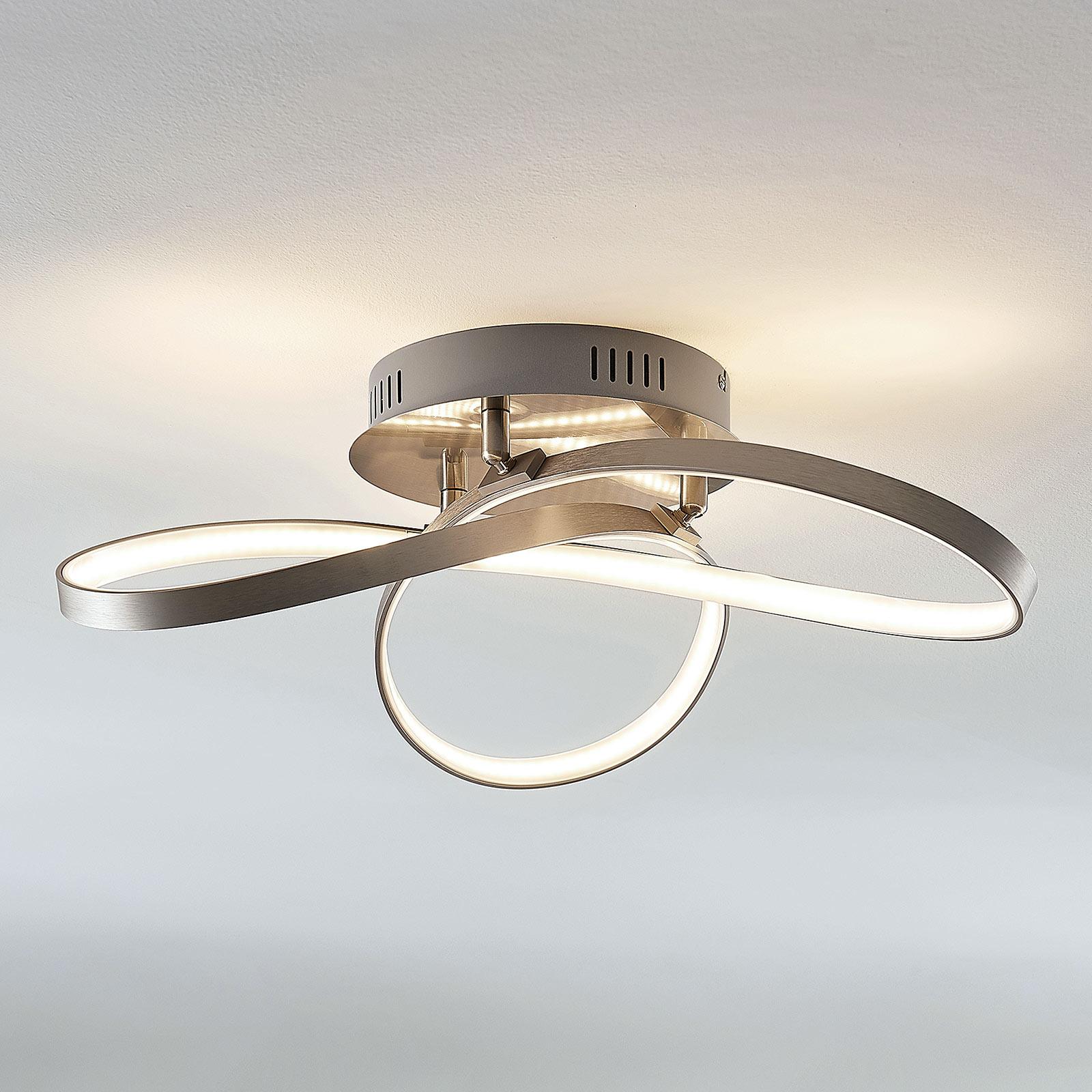LED stropní svítidlo Saliha s moderním tvarem