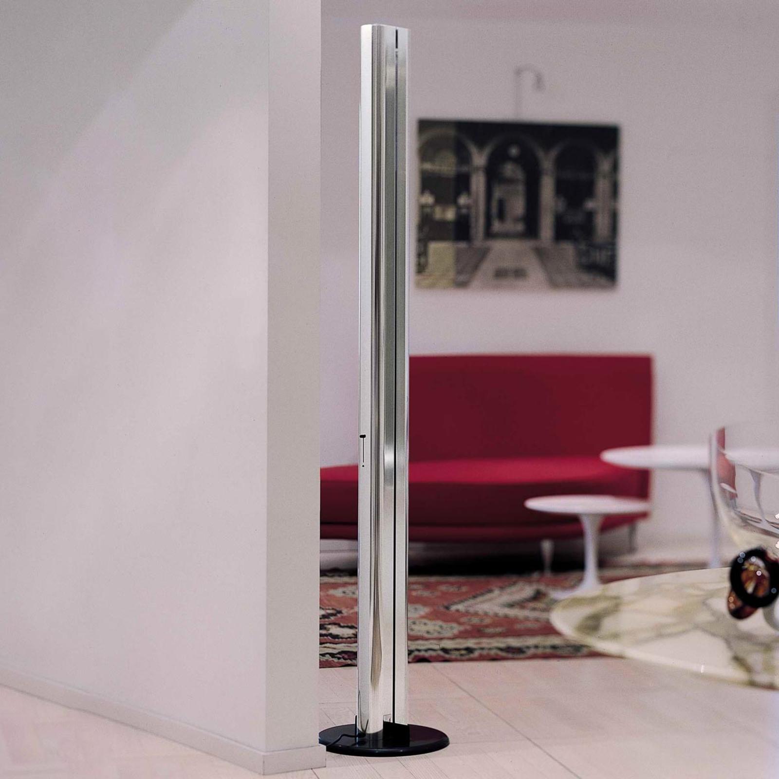 Designer LED gulvlampe Megaron blank aluminium