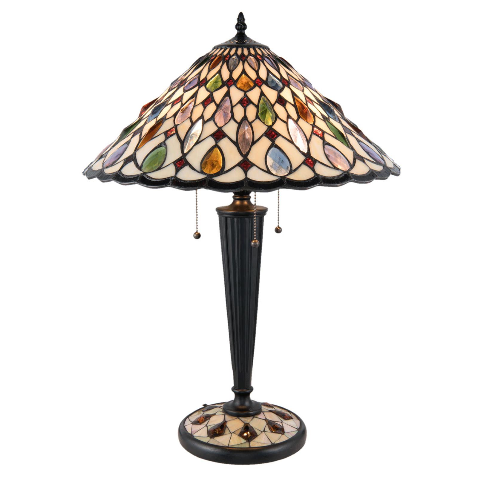 Tafellamp 5188 met kegelvormige glazen kap