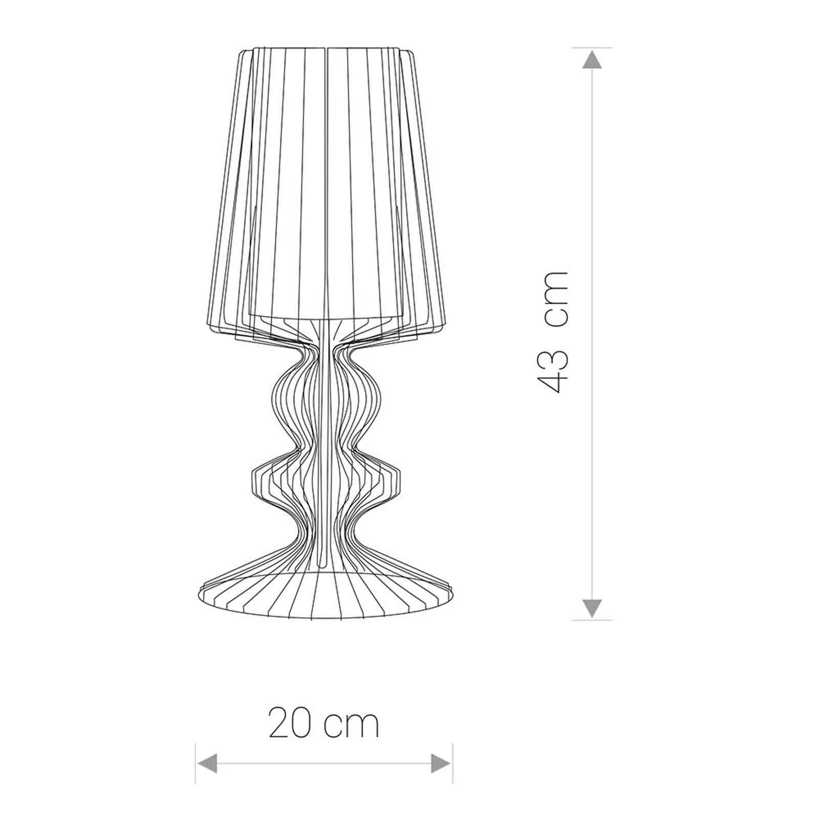 Tafellamp Aveiro S van metalen stutten, zwart