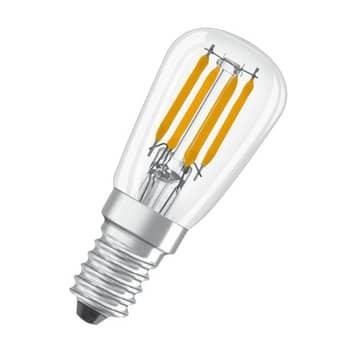 OSRAM LED-pære E14 T26 2,8W 2.700K klar, 2 stk.