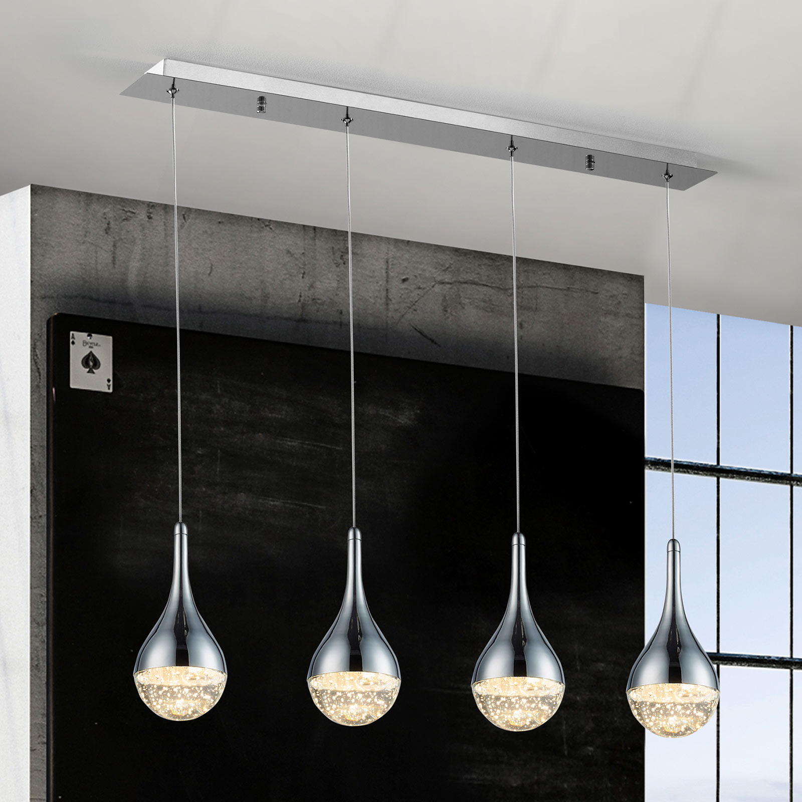 Lampa wisząca LED Elie, 4-punktowa