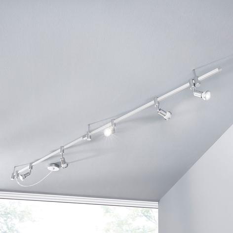 Foco LED sistema de riel Marwa atenuable, 5 focos