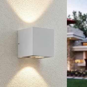 Arcchio Tassnim udendørs LED-væglampe, hvid, 2 lk.