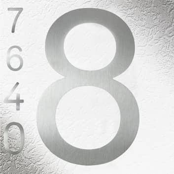 Pregiati numeri civici in acciaio inox