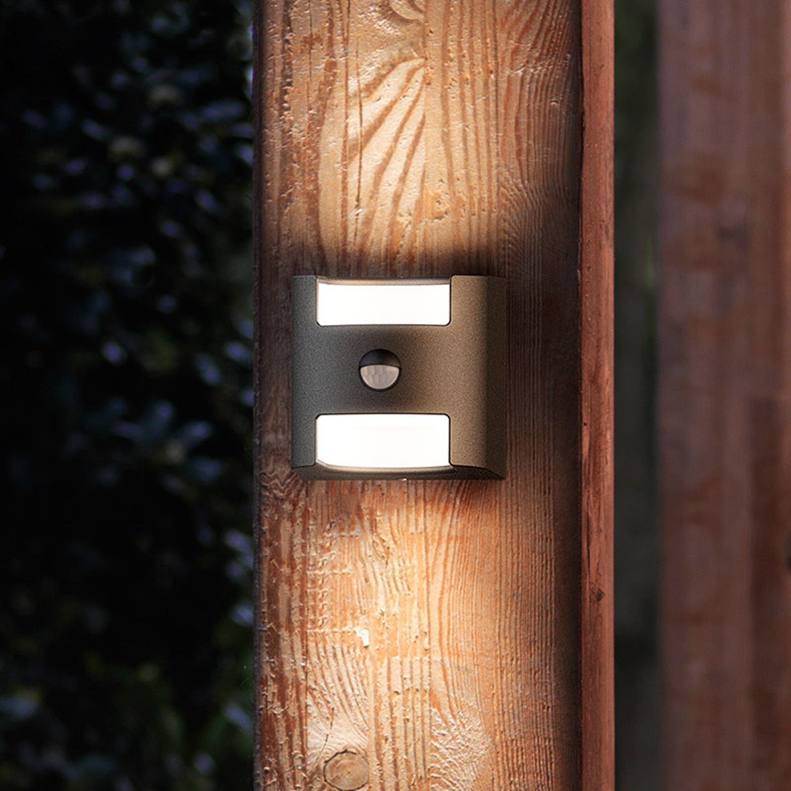 Philips Grass LED-Außenwandlampe anthrazit Sensor