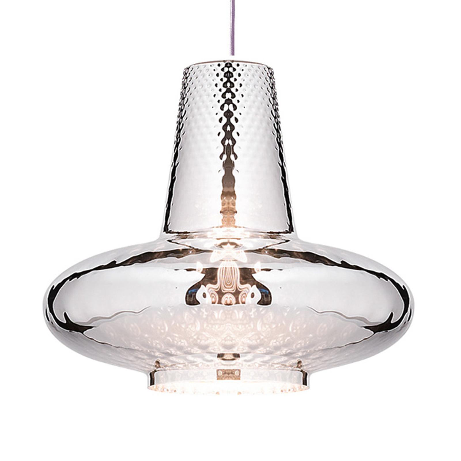 Lampa wisząca Giulietta 130cm, srebrny metalik