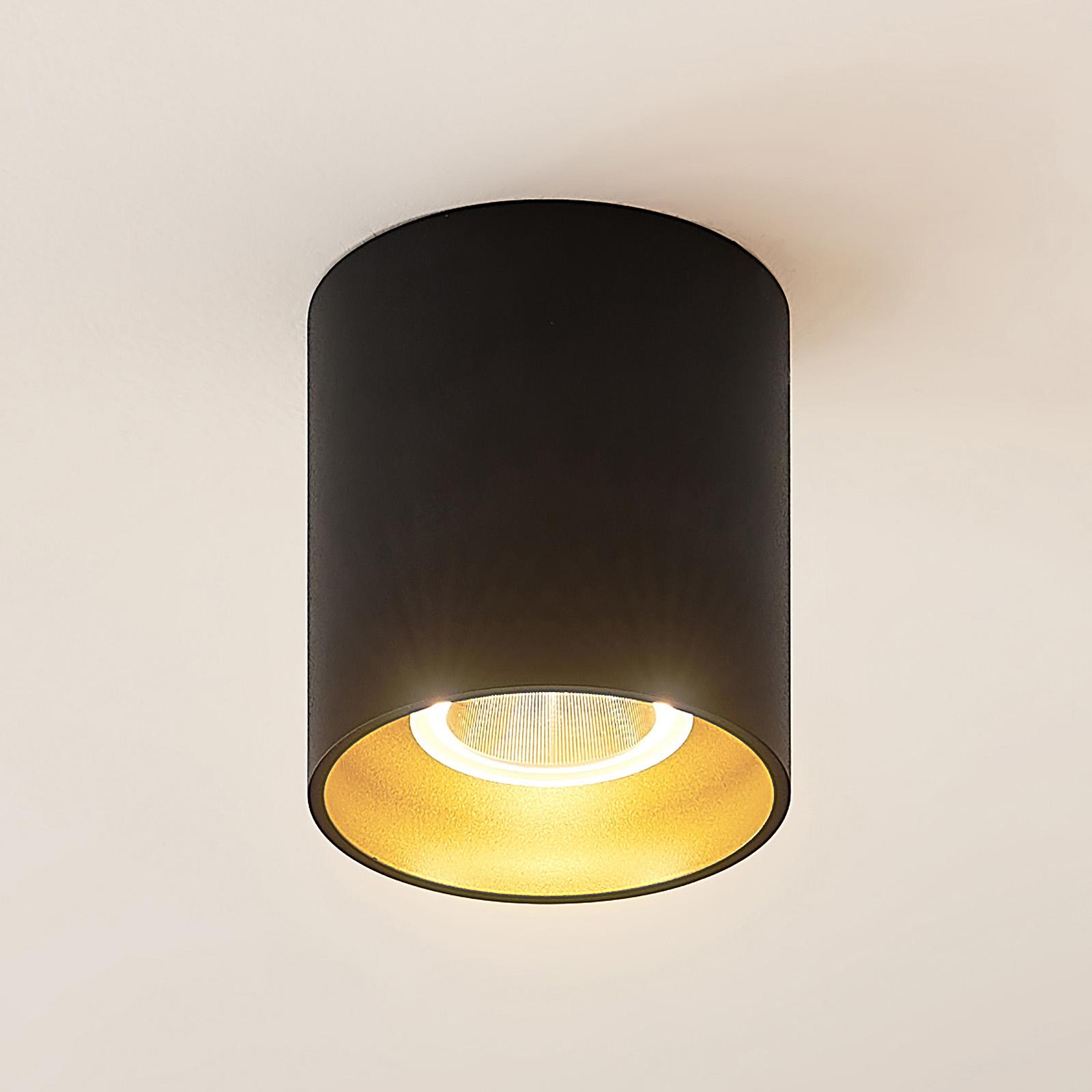 Arcchio Zaki LED-taklampe, rund, svart