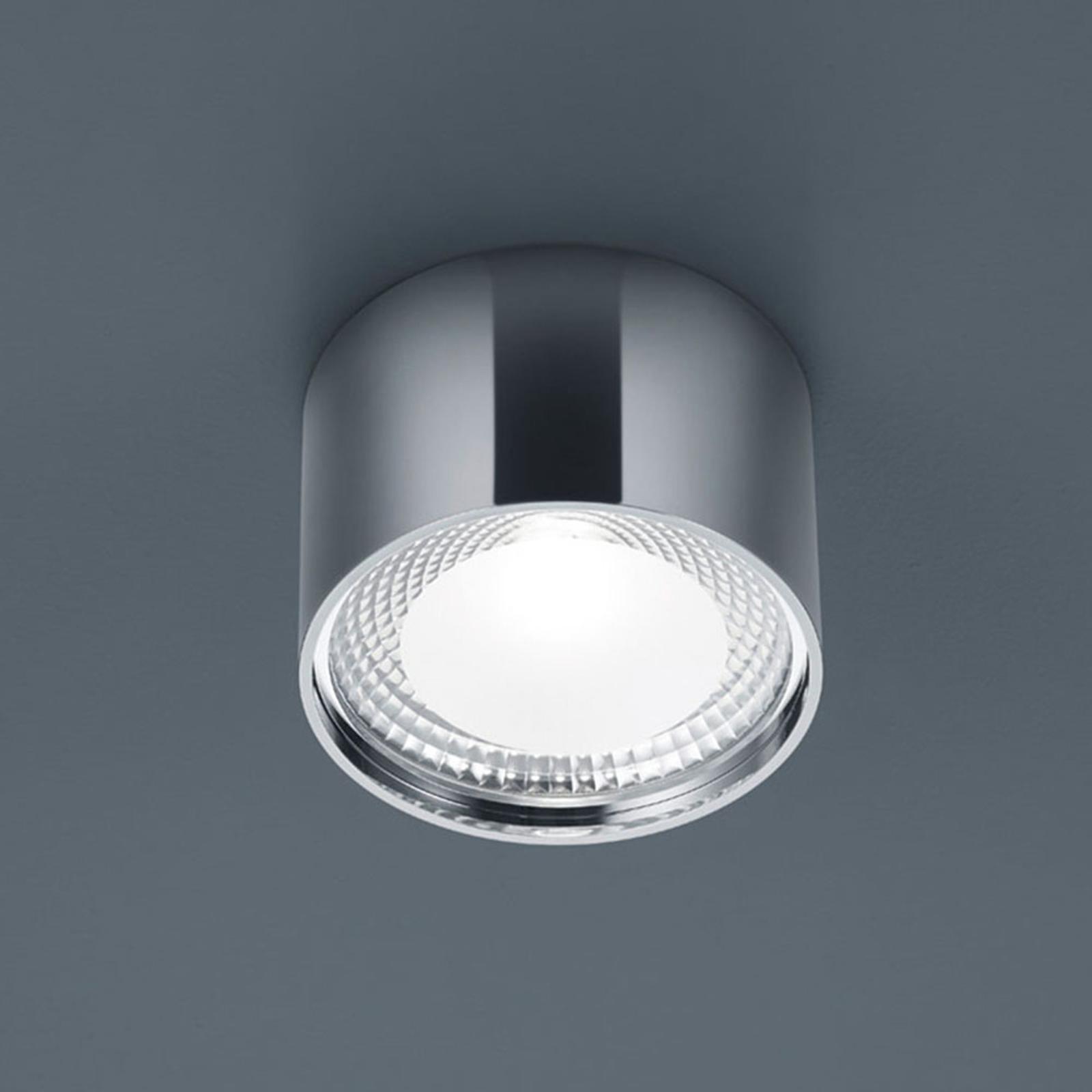 Helestra Kari lampa sufitowa LED, okrągła, chrom