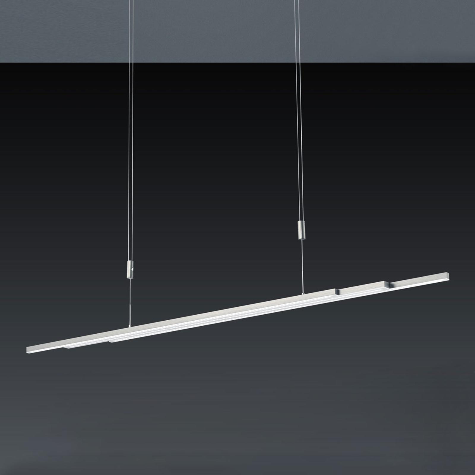 BANKAMP L-lightLINE suspension LED, nickel mat