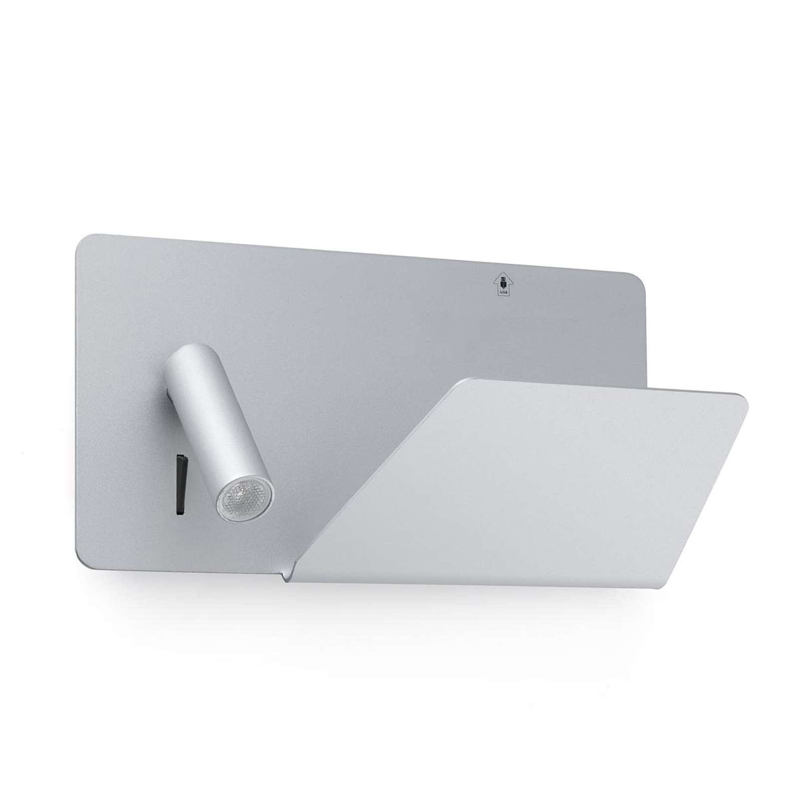 Compatta applique LED Suau con porta USB