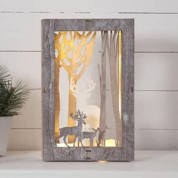 Fauna LED-dekorationslampe, rektangulær, 28 cm