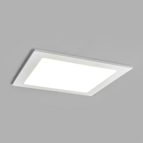 LED-indbygningsspot Joki hvid 4000K kantet 22cm