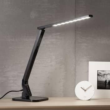 Czarna lampka na biurko LED Eleni