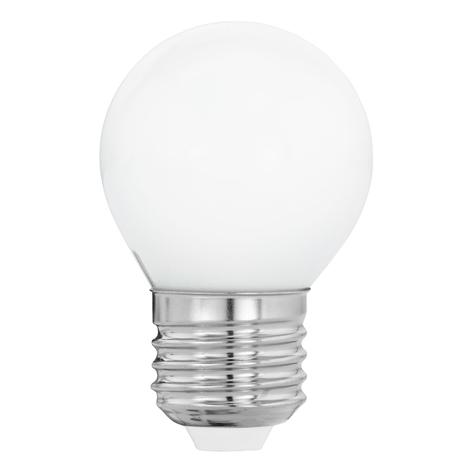LED E27 G45 4W, bianco caldo, opale