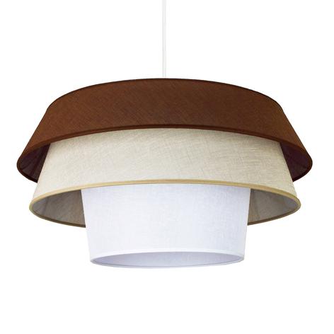 Lámpara colgante textil Lotos, marrón/beige/blanco