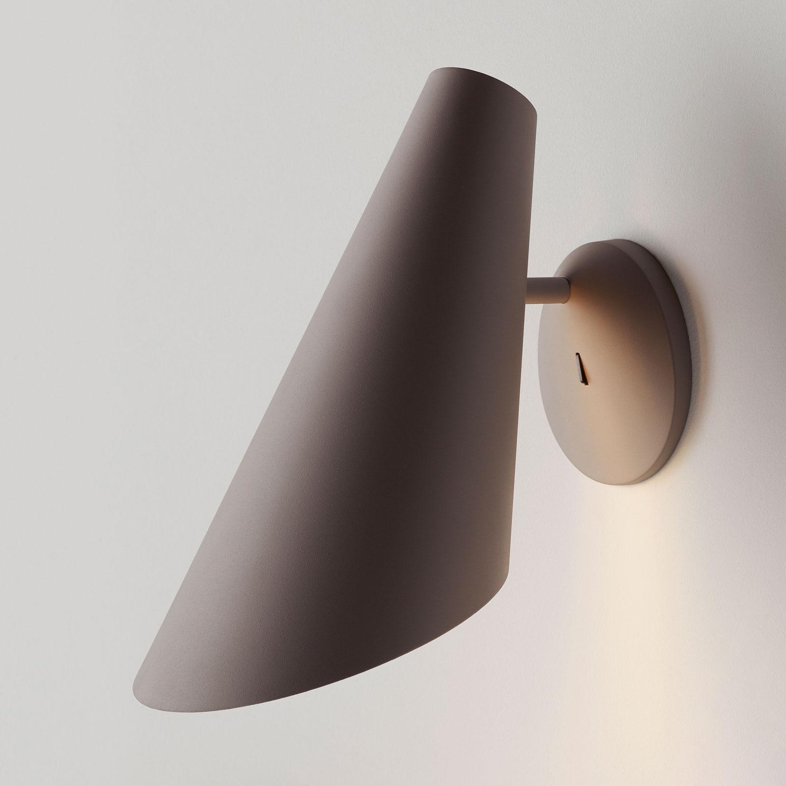 Vibia I.Cono 0720 wandlamp, 28 cm, beige