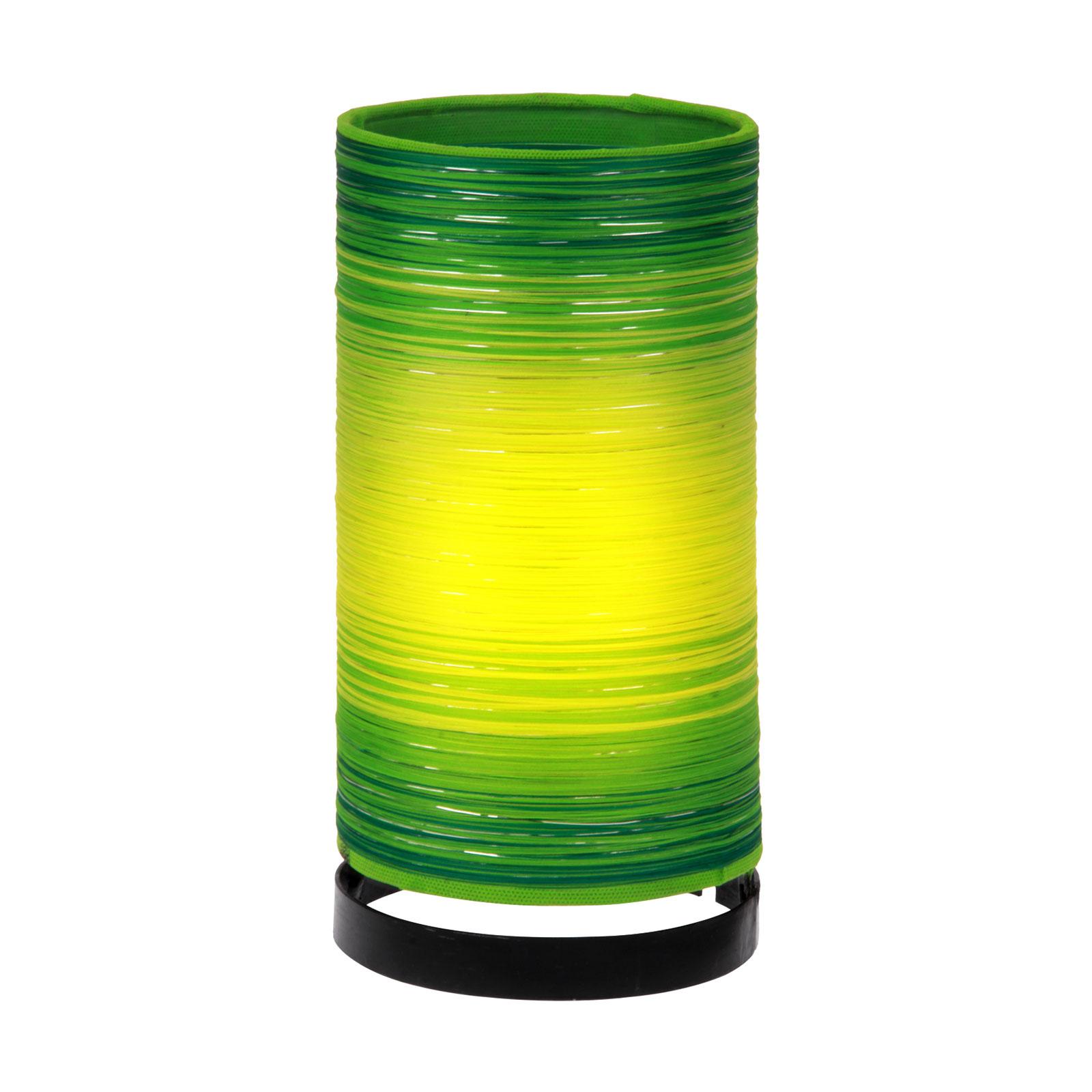 Tafellamp Julie met draad omwikkeld, groen