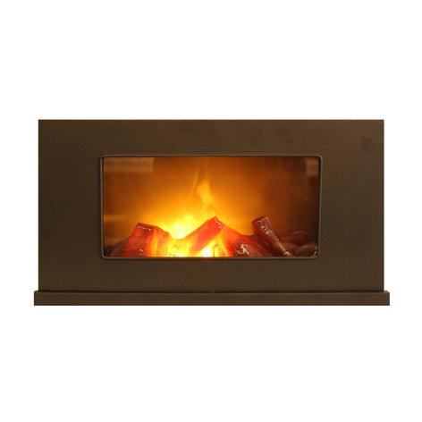LED-lykt Fireplace, flimrer, bredde 40 cm