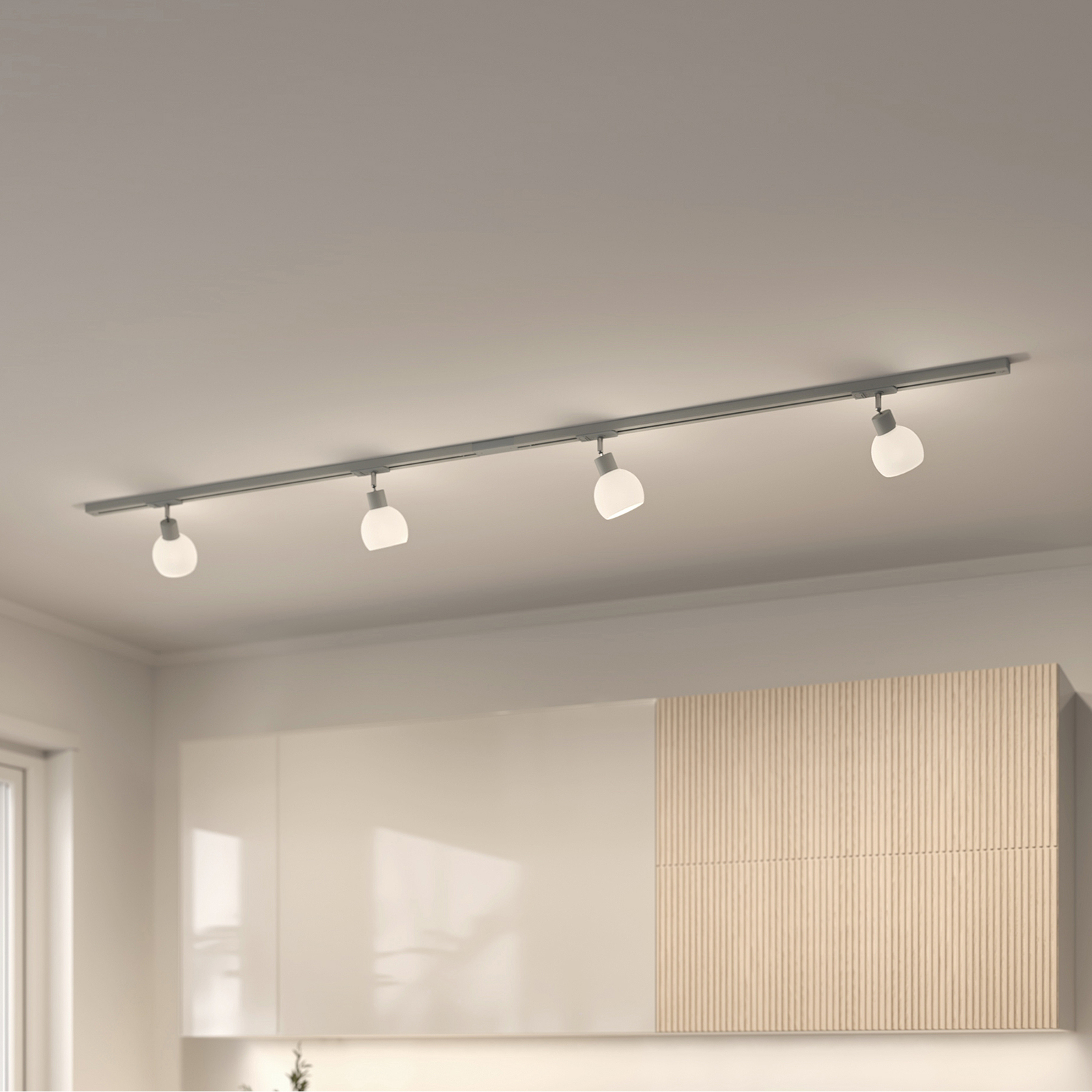 Lindby Jeanit 1-Phasen-LED-Schiene, silber