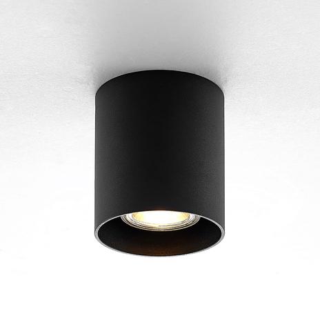 ELC Efey lampa sufitowa, GU10, okrągła, czarna